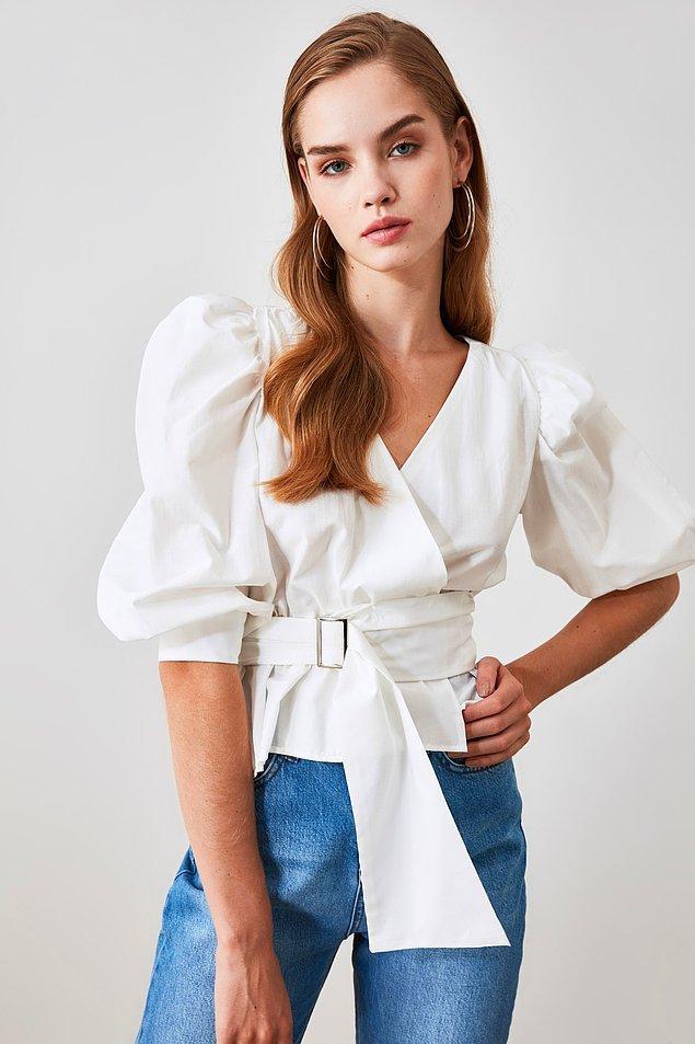 6. Elbise dışında şık bluzler de bayram havasını yakalamak için güzel bir alternatif.