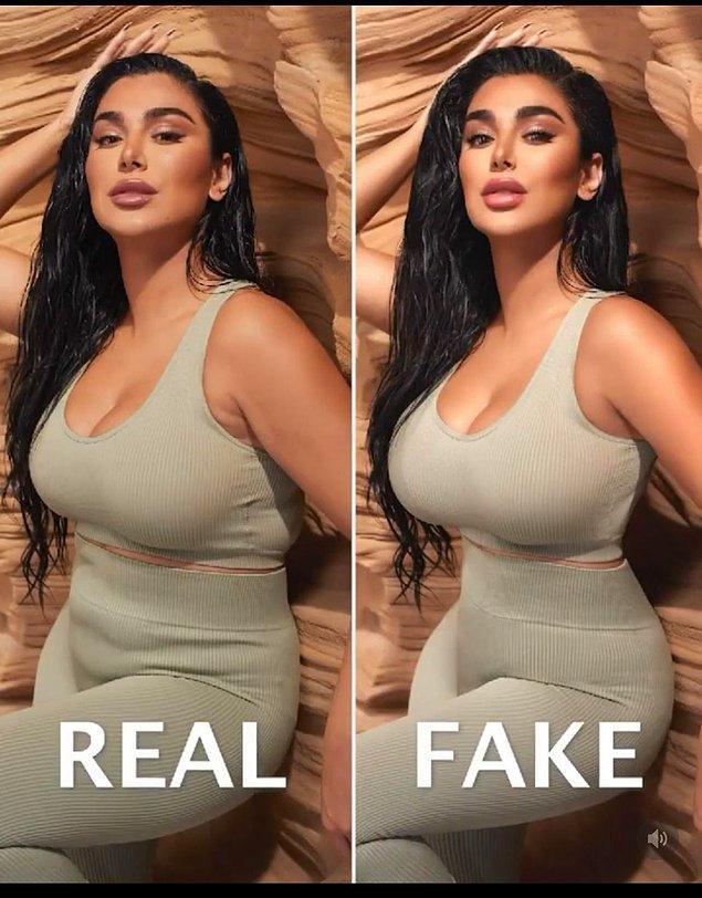 2. Photoshoptan önce ve sonrasını paylaşan bir Instagram kullanıcısı: