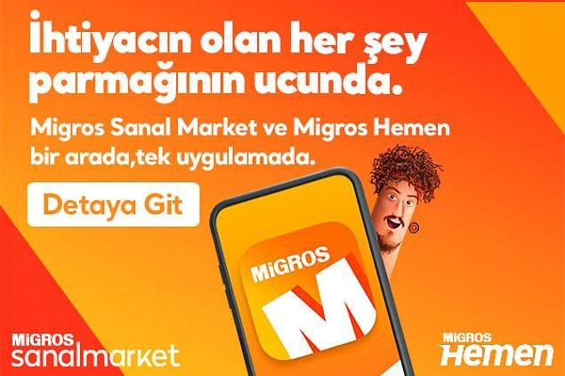 Migros Sanal Market ve Migros Hemen bir arada, tek uygulamada!