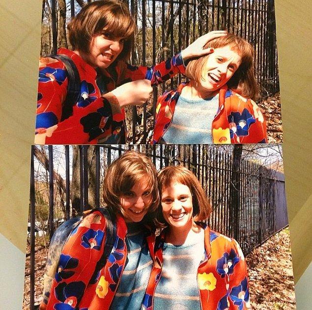 7. Lena Dunham ve çok sevdiği dublörü Dakota Bown.