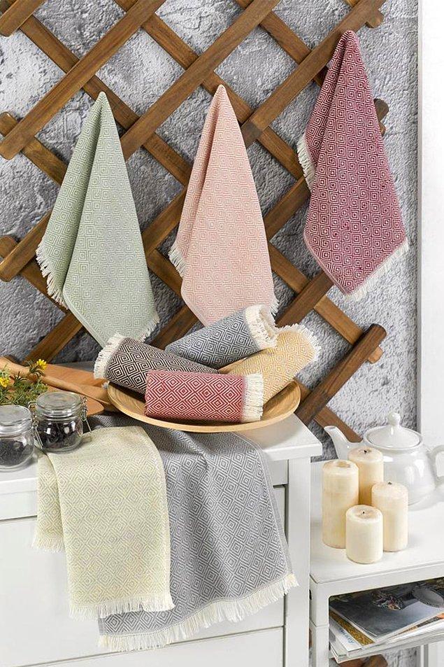 2. Renkli mutfak havluları