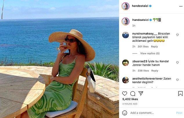 Ataizi dünyaca ünlü model Kendall Jenner'ın fotoğrafını kendi fotoğrafıymış gibi paylaşınca olanlar oldu.