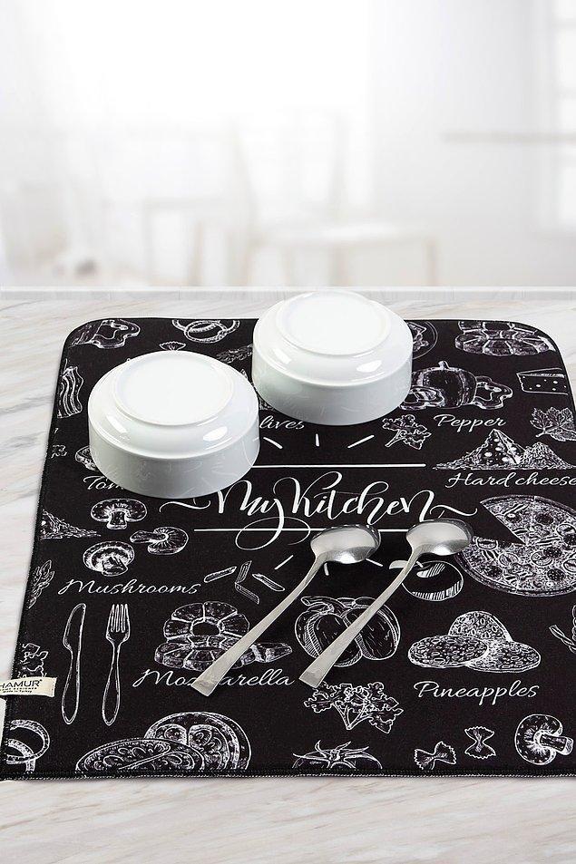 8. Makine atılmayan bulaşıklar için kullanışlı bulaşık matları...