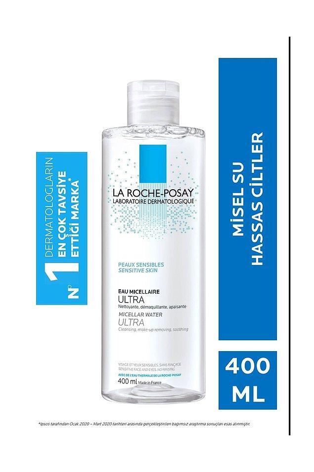 10. La Roche Posay yüz, göz ve dudak temizleyici misel su