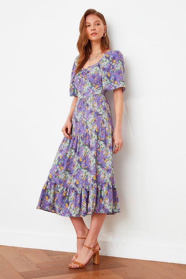 16. Alımlı kadınlar için bayramlık elbise...