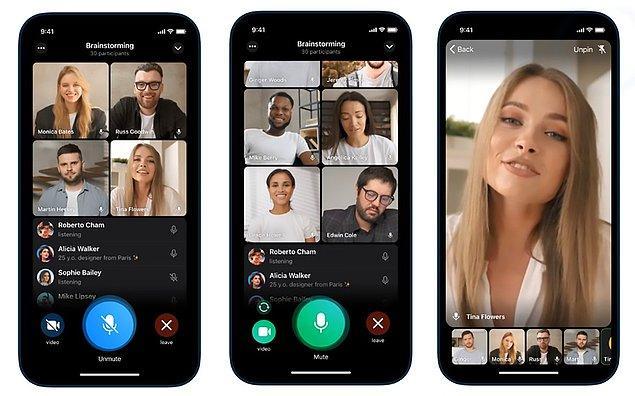 Güncellemeyle beraber kullanıcılar aynı zamanda video görüşmesinde hareketli arka plan kullanarak, uygun olmayan ortamlarda kendilerini gösterebilecek. Bu özellik benzer konuşma uygulamaları arasında bir ilk olarak yerini alıyor.