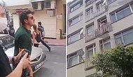 Polis Memurundan Balkondaki Vatandaşa: 'Lan Kes Sesini Yavşak, Gir İçeri'