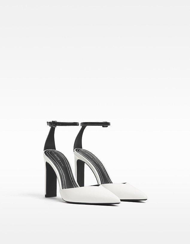 1. Sadelikten yana olanlar için bu bayram, beyaz rengin etkisine kapılmanıza neden olacak topuklu ayakkabı modelleri!