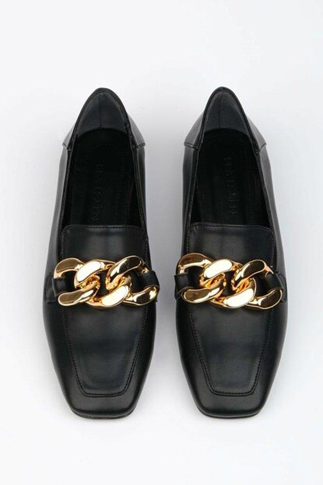 8. Kadın loafer ayakkabı modelleri bayram için oldukça uygun modeller arasında yer alıyor.