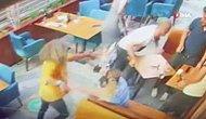 Kafede Eski Eşine Bardak ve Bıçakla Saldıran Erkeğe Kadınlar Müdahale Etti