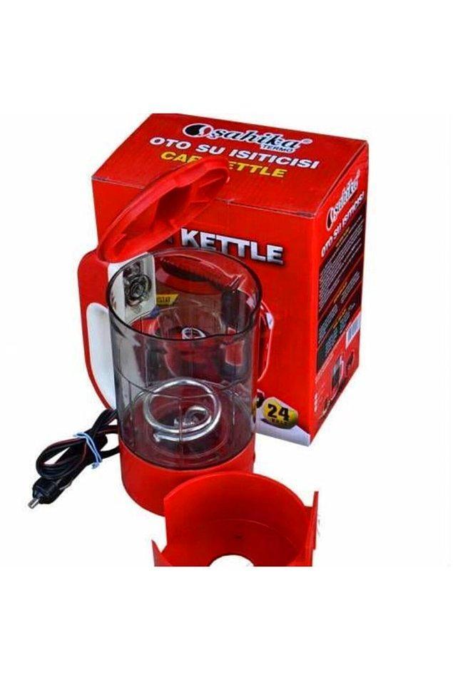 13. Çaysız kahvesiz yapamayanlar için araç içi kettle.
