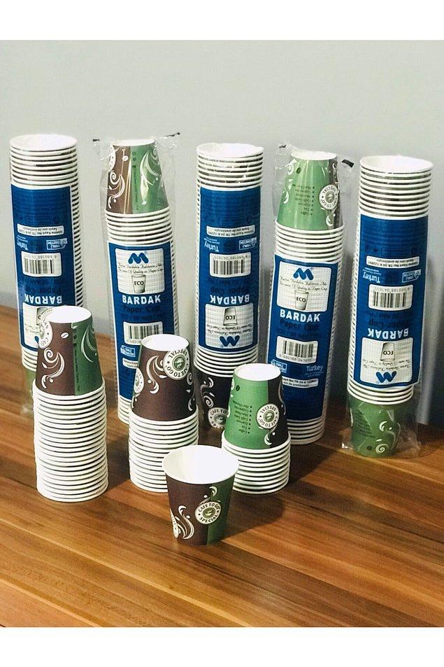 15. Kullan at karton bardaklar da hem su hem de çay kahve içmek için lazım.