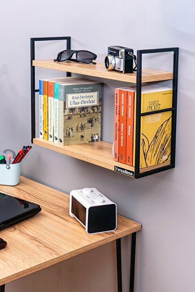 6. Dekoratif bir kitaplık çocuklarınızı ders çalışma ve kitap okuma konusunda motive edebilir.