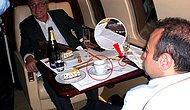 Egemen Bağış'ın Uçakta Şampanyalı Fotoğrafını Analiz Ettiler: Kek, Kahve Toplanmadan Başka Servis Yapılır mı?