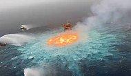 Meksika Körfezi'nde Denizin Altında Çıkan Yangın Söndürülemiyor!