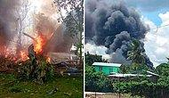 Filipinler'de 96 Kişiyi Taşıyan Askeri Uçak İniş Sırasında Düştü