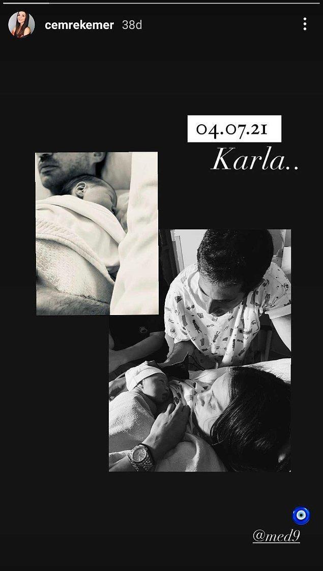 7. Bir zamanların efsanevi müzik grubu olan Hepsi ile hayatımıza giren Cemre Kemer bebeğini dünyaya getirdi.