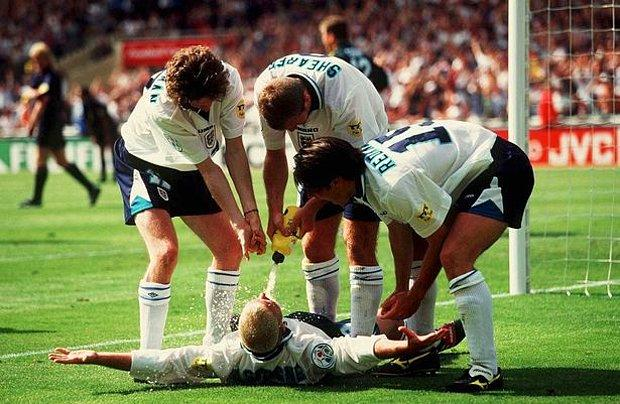 Gascoigne'nin gol sevinci (1992)