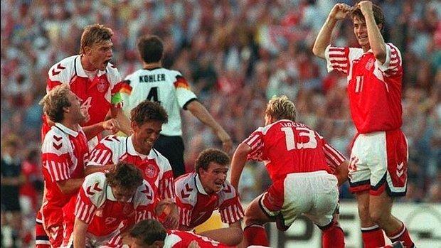 Yugoslavya'nın yerine gelen Danimarka'nın beklenmedik şekilde şampiyon olması (1992)