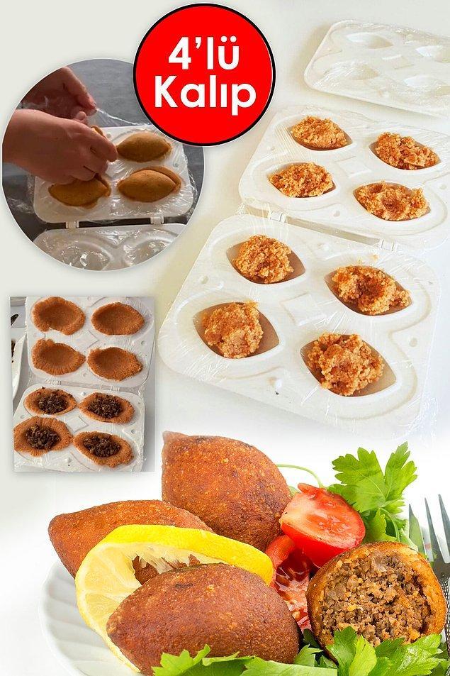 1. Trendyol mutfak gereçleri arasında yer alan içli köfte aparatı, bir şef edasıyla lezzetler yaratmanıza yardımcı olacak.