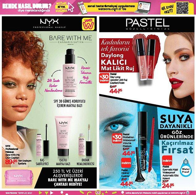 NYX ve Pastel ürünleri;