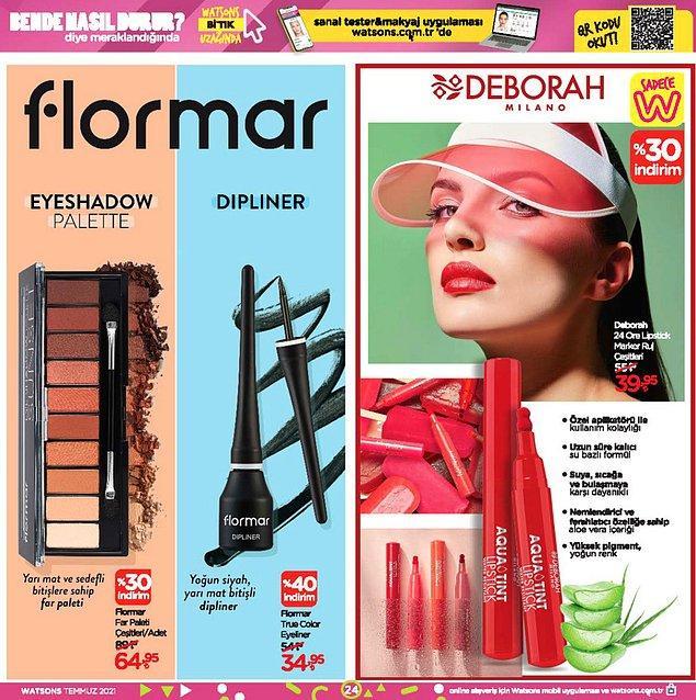 Deborah 24 One Lipstick Marker ruj çeşitleri 39,95 TL.