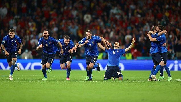 Penaltılarda rakibine 4-2 üstünlük kuran İtalya final biletini alan ilk takım oldu.