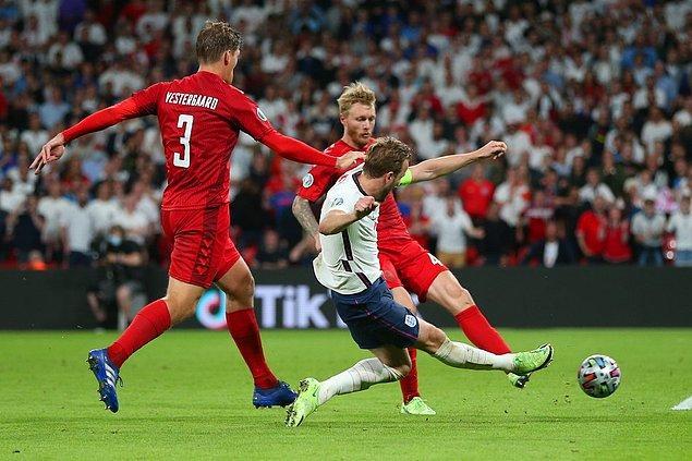 EURO 2020 yarı finalinde İngiltere, Danimarka'yı uzatmalar sonucunda 2-1 mağlup ederek finale yükseldi.