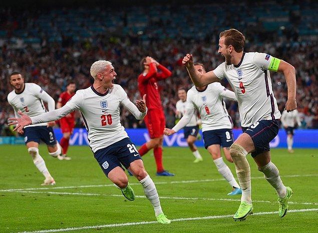 İngiltere tarihinde ilk kez Avrupa Şampiyonası'nda finale çıktı.