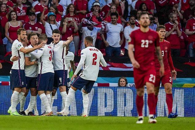Uzatmalarda Harry Kane ile öne geçen İngiltere, finalde İtalya'nın rakibi oldu.