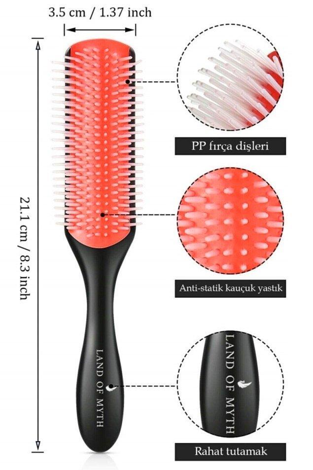 16. Kıvırcık ya da dalgalı saçları şekillendirmek için icat edilmiş en iyi fırçanın uygun fiyatlı olanı...