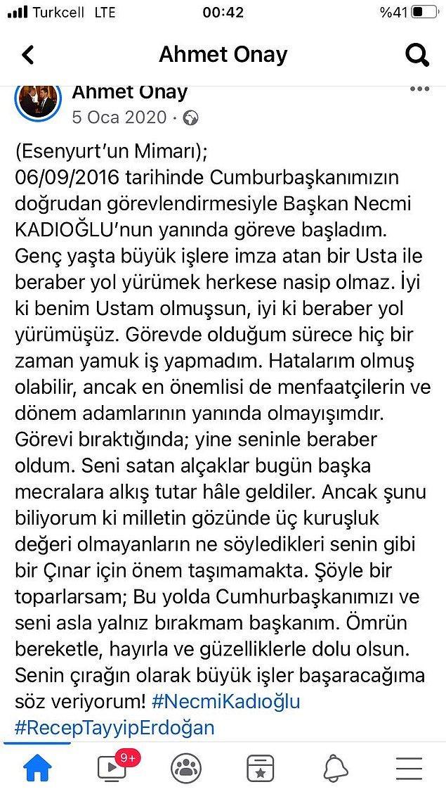 2016 yılında 15 Temmuz'un hemen ardından Esenyurt Eski Belediye Başkanı Necmi Kadıoğlu'nun yanında da göreve başlamış.