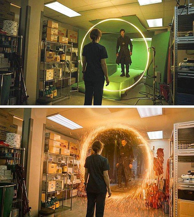 7. Doctor Strange filminde, sihir gibi görünen her şeyin içinde biraz hile var sanki.😂