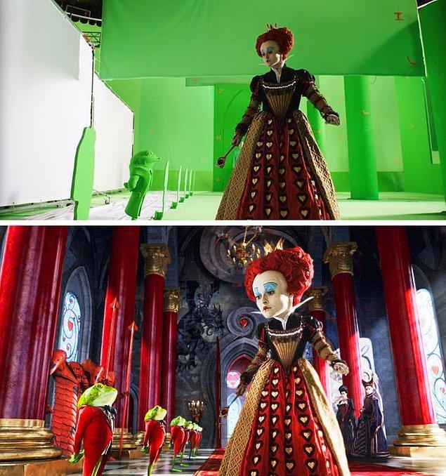 9. Tim Burton'ın Alice Harikalar Diyarında filmi özel efektlerle tam bir fantezi dünyası yaratılabileceğinin bir kanıtı olsa gerek.