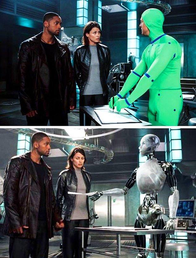 13. I, Robot filminde, bu makineleri özel efektler kullanarak simüle edebildiler.