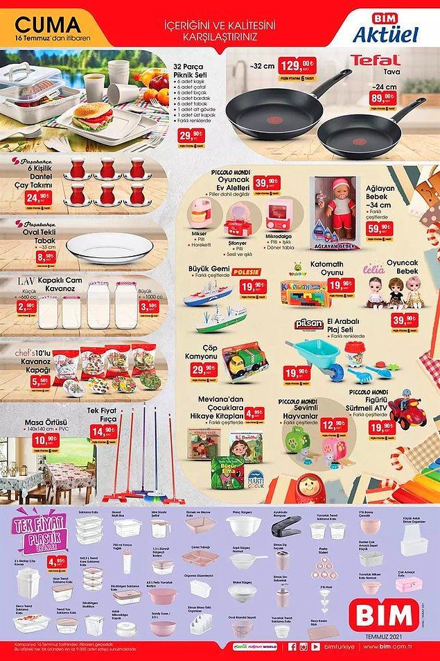Plastik ürünlerde tek fiyat kampanyası var. Her bir ürün 4,50 TL.