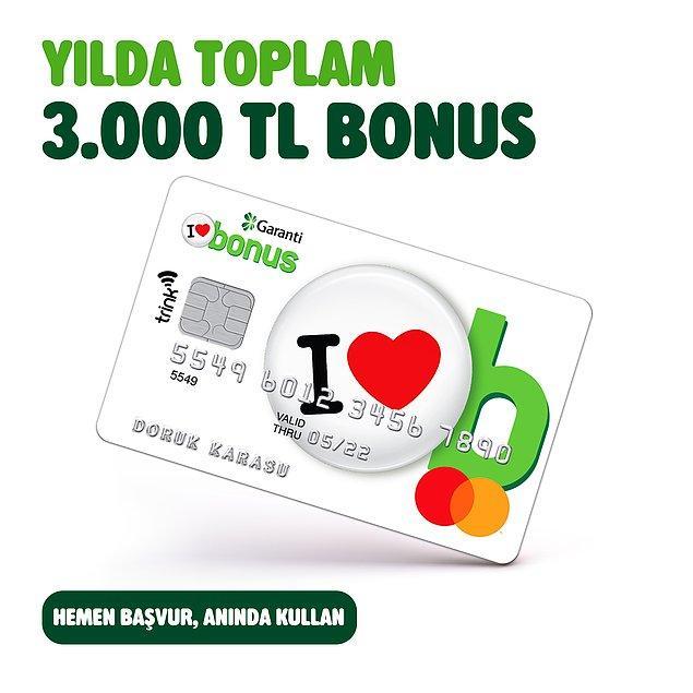 Bonus kredi kartı başvurusu