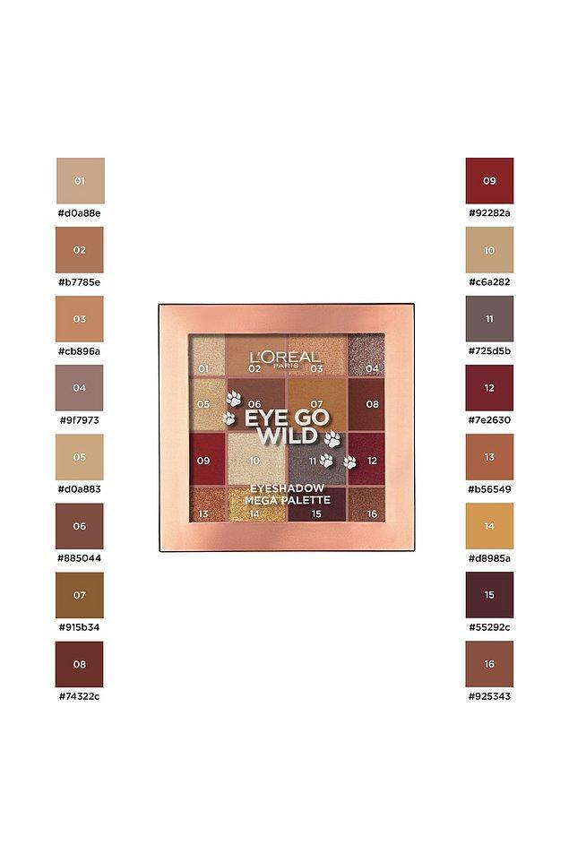 9. Kırmızı ve turuncu tonlardan oluşan bu far paleti, yaz aylarında da yakıcı bir göz makyajı yapmak isteyenler için...
