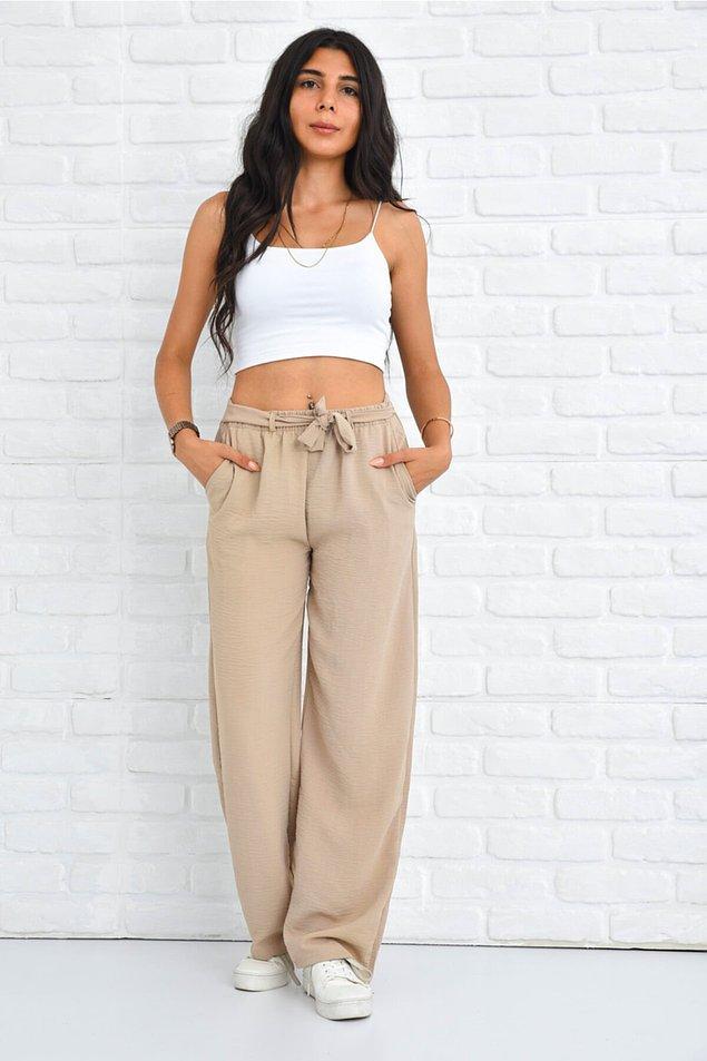 1. Tiril tiril pantolonlar arasında en rahat olanlarından biri bu model.