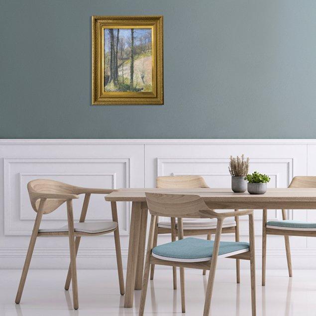 6. Yemek odasına asılmış bu tablonun asılış şeklinde herhangi bir hata var mı?