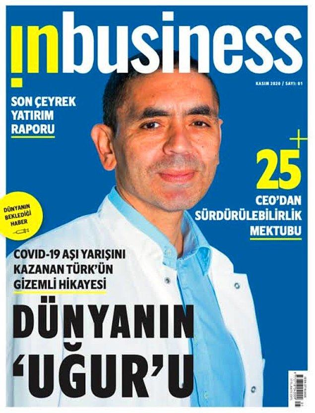 Fakat Türkiye'de yayımlanan Inbusiness'ın kapağında sadece Uğur Şahin yer alıyordu.