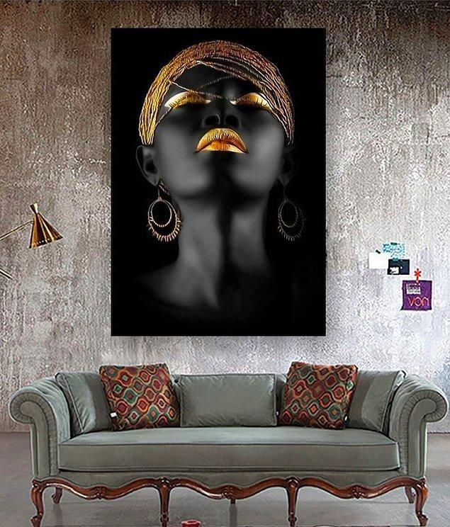8. Duvarlarını renklendirebilecek bir tablo...