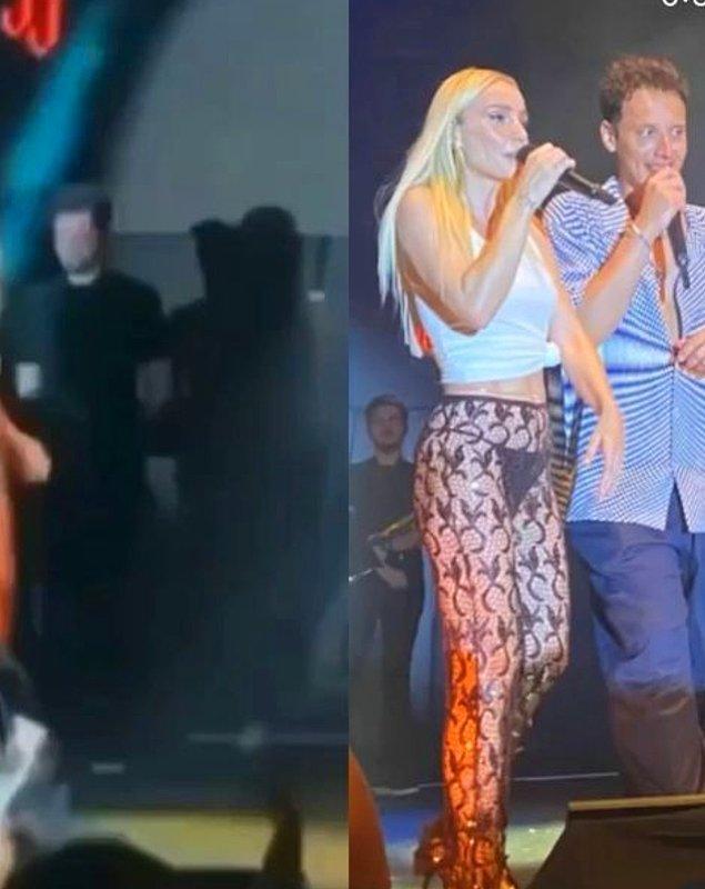 Uzun zamandır özlediği sahnelere dönen Gülşen, konserde Edis ile birlikte de şarkı söyledi.