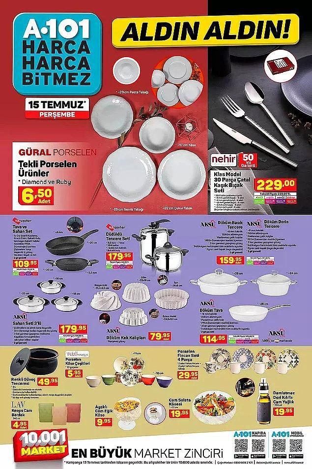 A101 mutfak gereçleri kataloğu;