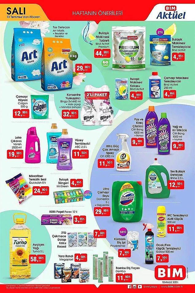 Temizlik ürünleri de uygun fiyatlara satışta olacak.