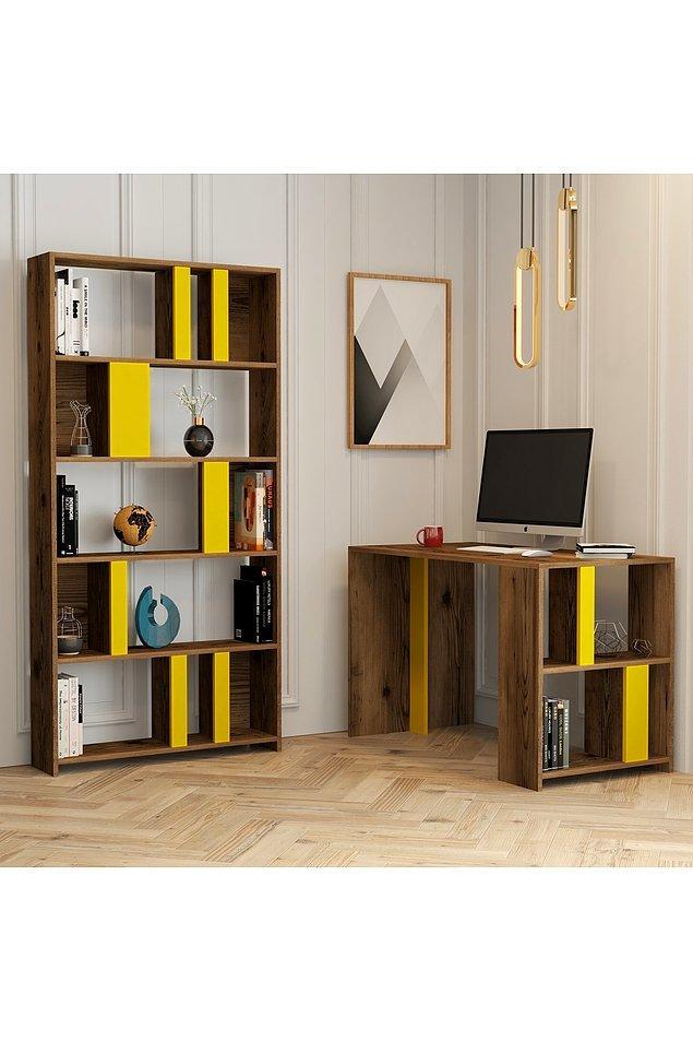 11. Benim genç odası için ihtiyacım olan sadece çalışma masası ve kitaplık diyorsan, bu seçenek sana göre olabilir.