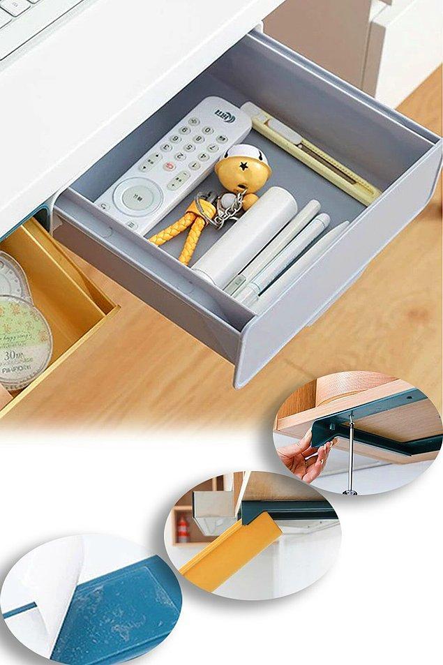 6. Tabii bazı eşyalarında masanın üzerinde değil ama yine de her an ulaşılabilir olması da önemli.