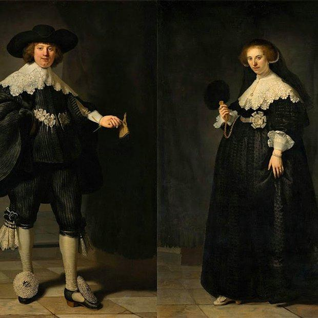 Pendant portraits of Maerten Soolmans and Oopjen Coppit - Rembrandt