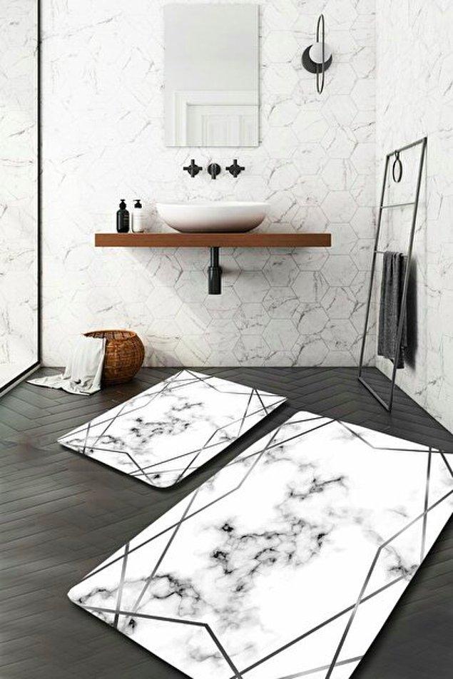2. Banyo paspası ilk dikkat noktalarından birisi.