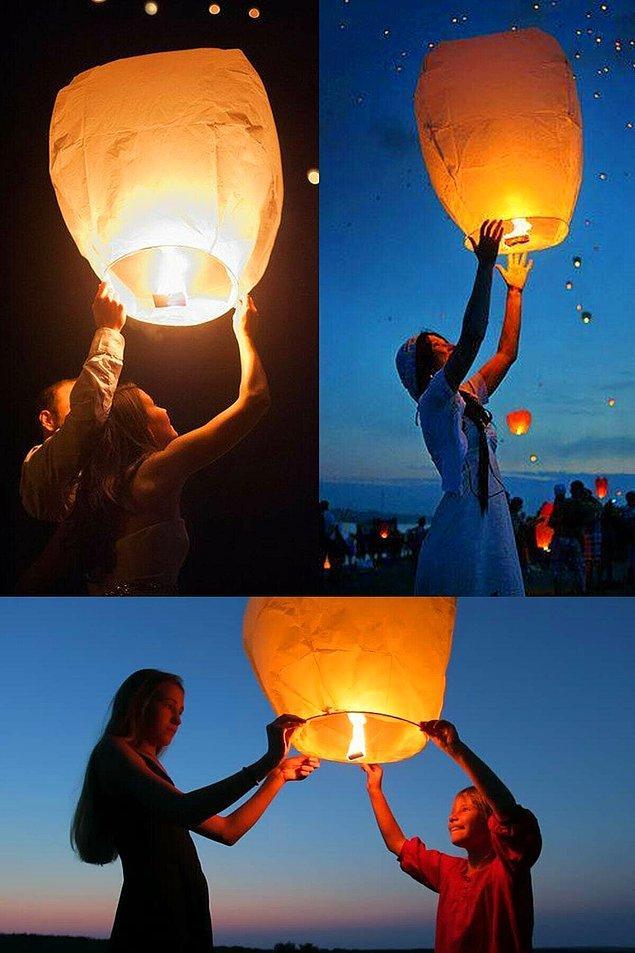 12. Düğün sonunda birkaç dilek balonu uçurmaya ne dersiniz?